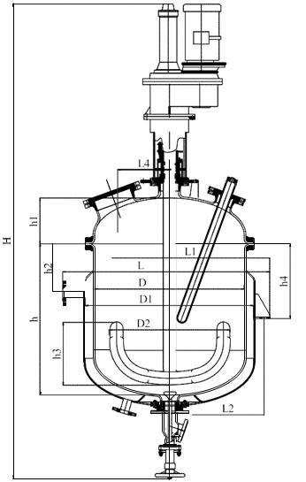 Якорная мешалка V=0,4 м3; 0,63м3
