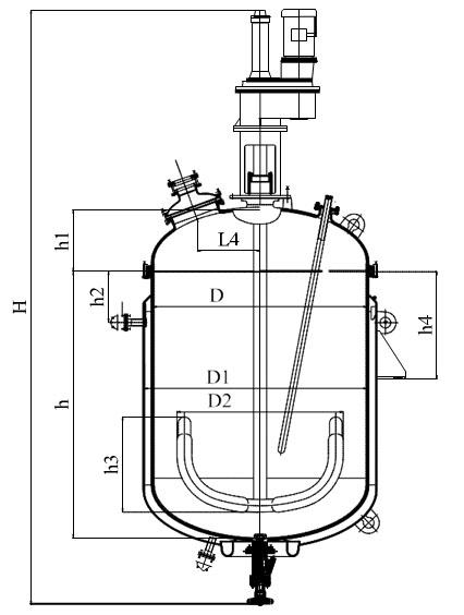 Якорная мешалка V=1,6 м3