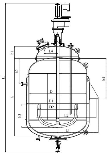 Якорная мешалка V=10,0 м3