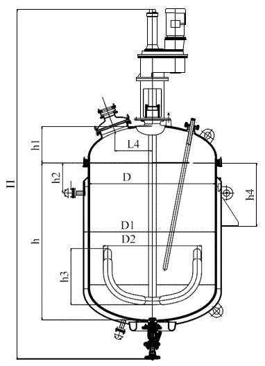 Якорная мешалка V=2,5 - 6,3 м3