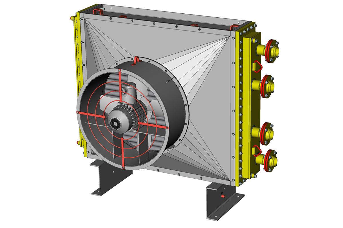 Аппарат воздушного охлаждения малопоточный горизонтальный, вертикальный (АВМ-Г; АВМ-В)