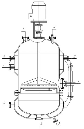 Фильтр эмалированный емкостной с поднимающимся перемешивающимся устройством