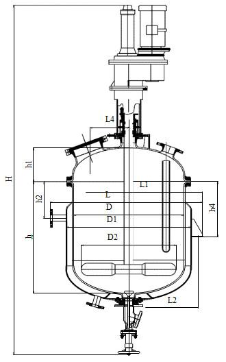 Лопастная мешалка V=1,0 м3