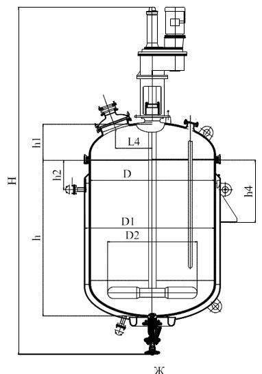 Лопастная мешалка V=1,6 м3