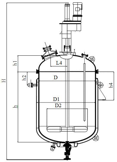 Лопастная мешалка V=2,5 - 6,3 м3