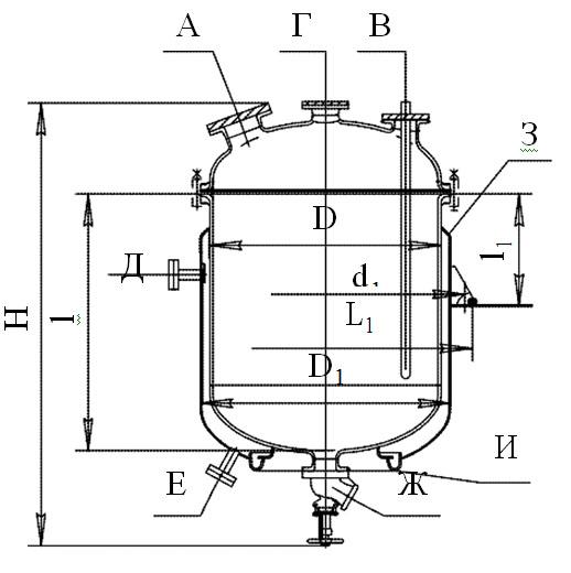 Сборники эмалированные с эллиптической крышкой с рубашкой V=0,4 - 6,3 м3