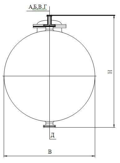 Сборники эмалированные горизонтальные V=4,0-8,0 м3