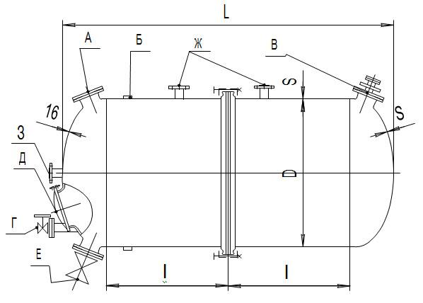 Сборники горизонтальные V=16,0-22,0 м3
